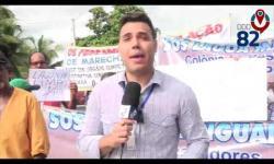 Manifestação na Barra Nova