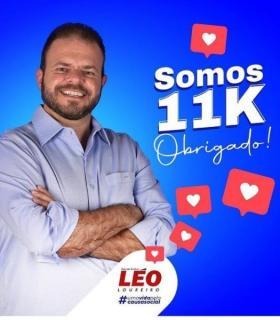 Deputado Léo Loureiro agradece seguidores que acompanham seu trabalho.