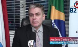 Presidente do Conseg Antônio Carlos Gouveia foi entrevistado pelo repórter Alexandre Prado DDD82