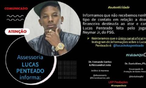 FAKE NEWS: Suposta doação de Neymar à Lucas Penteado