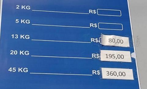 Preço do botijão de gás chega a R$ 80 reais e arapiraquenses reclamam