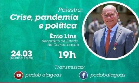 Aniversário do PCdoB: Ênio Lins conduz palestra nesta quarta (23)