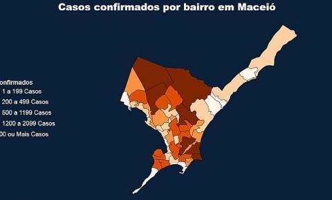 Cidade Universitária, Benedito Bentes e Ponta Verde lideram casos de Covid-19 em Maceió