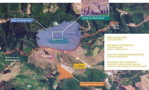 Talude em Barão de Cocais se move 7 cm por dia e vai se romper, diz Agência Nacional de Mineração (ANM)