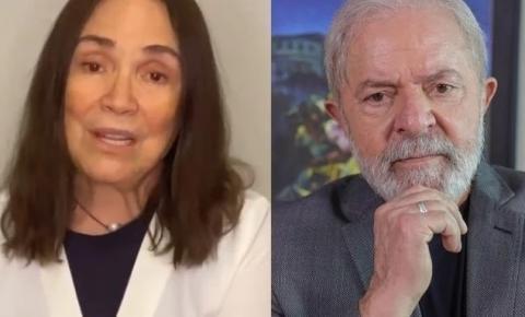 Lula não aceita decisão da justiça e quer 130 mil de Regina Duarte por danos morais.
