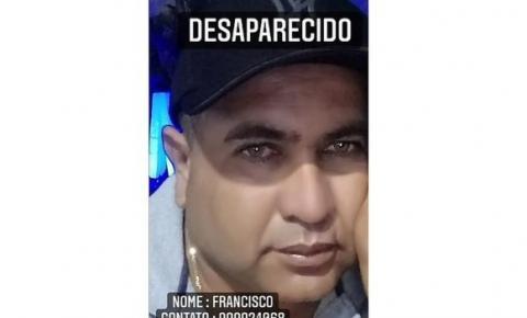 Família procura homem desaparecido desde o final de semana